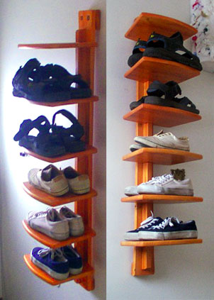 shoe shelf plans
